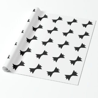 CHIC WRAPPING PAPER_BLACK BOWS PATTERN