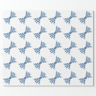 CHIC WRAPPING PAPER_BLUE/WHITE POLKA DOT BOWS