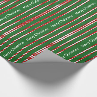 CHIC WRAPPING PAPER-CANDY CANE RED/WHITE STRIPES