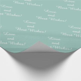 CHIC WRAPPING PAPER_LOVE & BEST WISHES_ SEAFOAM