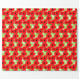 CHIC WRAPPING PAPER_ MOD CHRISTMAS POPPIES WRAPPING PAPER