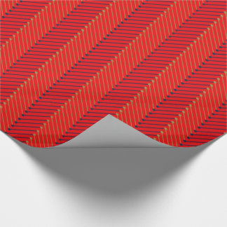 CHIC WRAPPING PAPER_NAVY/GOLD/RED CHEVRON