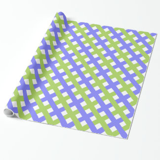 CHIC WRAPPING PAPER_PERIWINKLE/GREEN LATTICE
