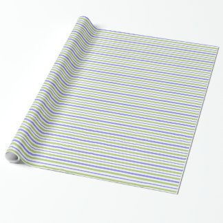 CHIC WRAPPING PAPER_PERIWINKLE/GREEN/WHITE STRIPES