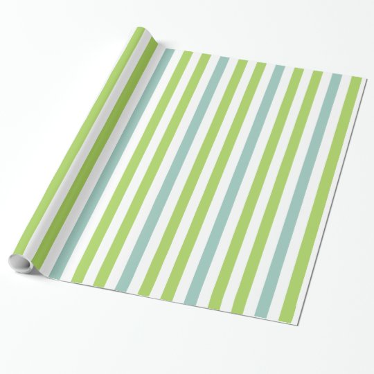 CHIC WRAPPING PAPER_SEAFOAM/GREEN/WHITE STRIPES
