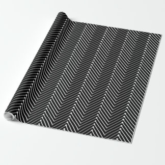 CHIC WRAPPING PAPER_WHTIE/GREY BLACK CHEVRON