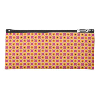 Chic Yellow Pink Blue Teal Polka Dot Pencil Case