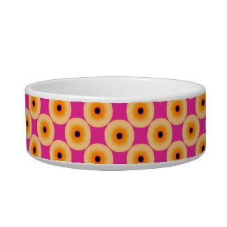 Chic Yellow Pink Polka Dot Bowl