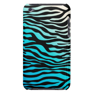 Chic Zebra iPod Barely There Blue Cream Case-Mate iPod Touch Case