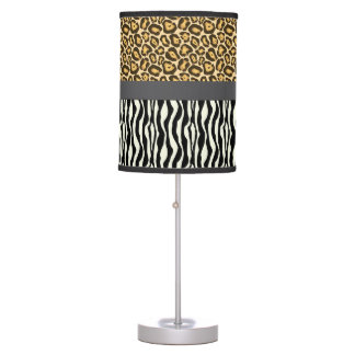 Chic Zebra & Leopardl Print Pattern Lamp