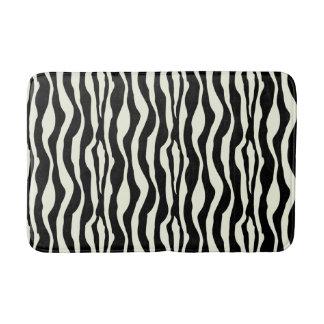 Chic Zebra Print Bath Mat