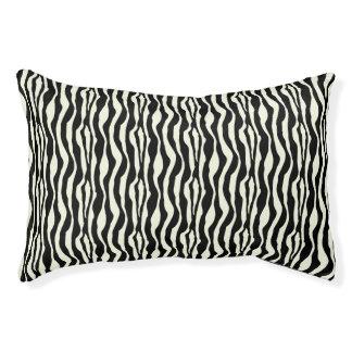 Chic Zebra Print Pattern Small Dog Bed