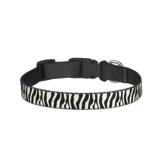 Chic Zebra Print Pet Collar