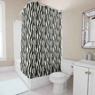 Chic Zebra Print Shower Curtain