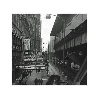 Chicago 1960's Blackhawk Restaurant Sign Street