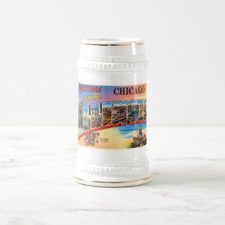 Chicago #2 Illinois IL Old Vintage Travel Souvenir Beer Stein
