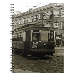 CHICAGO 63RD AND WESTERN 1952 TROLLEY ART SEPIA NOTEBOOK