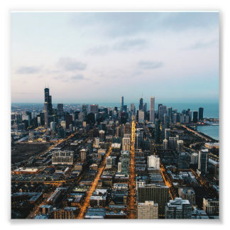 Chicago aerial view photo art