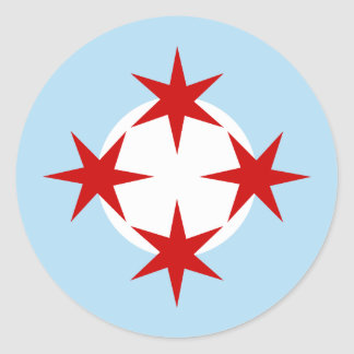 Chicago Air Force (Bomb Wing) Roundel Classic Round Sticker