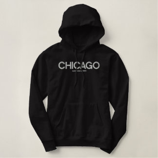 CHICAGO, Amiot Gallery, 94085 -BLK Embroidered Hoodie