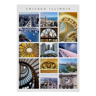 Chicago Architecture - snapshots of Chicago, IL Poster