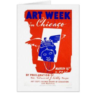 Chicago Art Week 1940 WPA Card