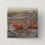 Chicago As it Was, c.1880 2 Inch Square Button