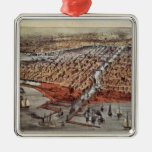 Chicago As it Was, c.1880 Metal Ornament