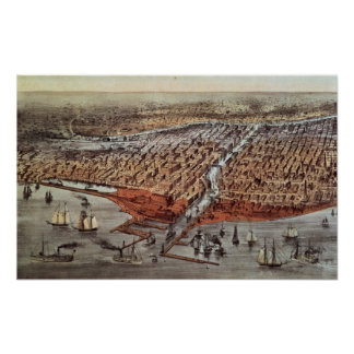 Chicago As it Was, c.1880 Poster