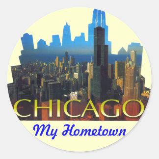CHICAGO BEAUTIFUL LANDMARKS CLASSIC ROUND STICKER