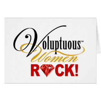 "CHICAGO BLING - ""Voluptuous Women Rock!"" Card"