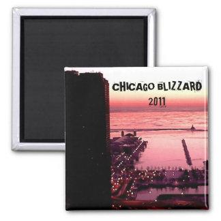 CHICAGO BLIZZARD 2011 SQUARE MAGNET