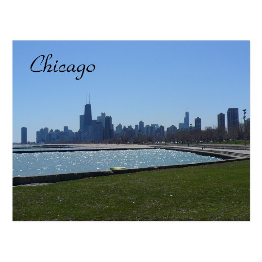 chicago blue postcard