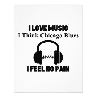 Chicago Blues Letterhead Template