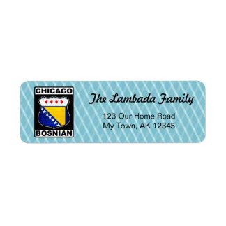 Chicago Bosnian American Address Labels Template
