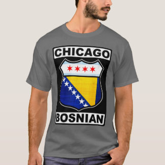 Chicago Bosnian American Design T-Shirt