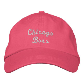 Chicago Boss Personalized Adjustable Hat