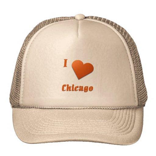 Chicago -- Burnt Orange Mesh Hat