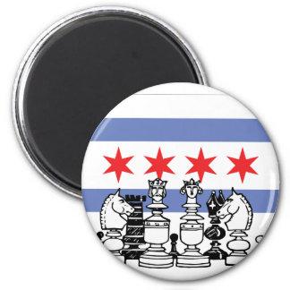 Chicago Chess 2 Inch Round Magnet