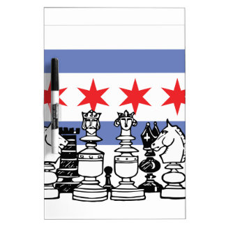 Chicago Chess Dry Erase White Board