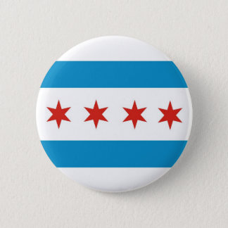 chicago city flag usa america 2 inch round button