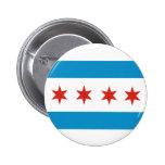 chicago city flag usa america 2 inch round button