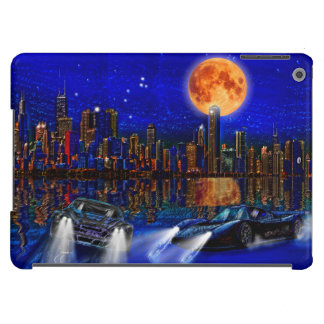 Chicago City Skyline and Street-Racing Cars Cover For iPad Air