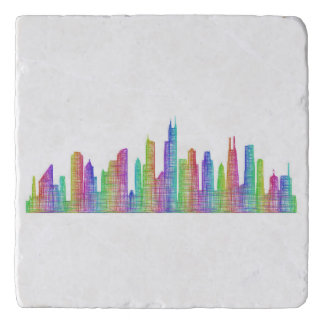 Chicago city skyline trivet