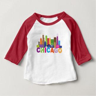 Chicago City Skyline Typography Baby T-Shirt