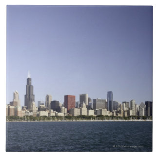 Chicago city skyline with Lake Michigan 2 Tiles