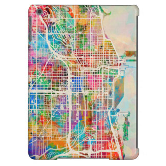 Chicago City Street Map Cover For iPad Air