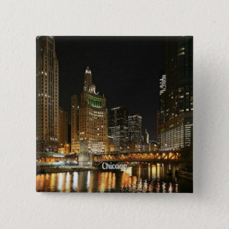 Chicago cityscape 2 inch square button