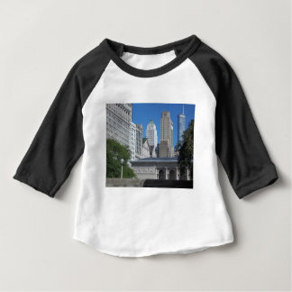 Chicago cityscape baby T-Shirt