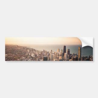 Chicago cityscape bumper sticker